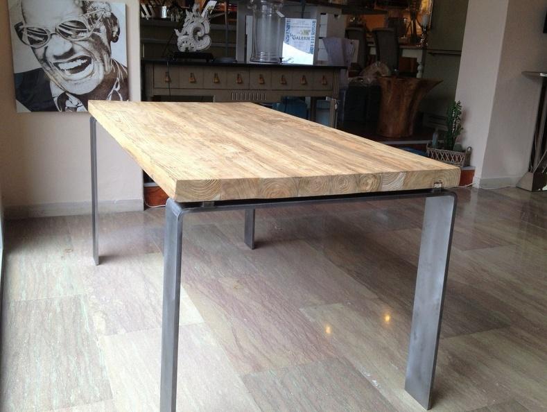 Tavolo ferro legno tavolo ferro - Tavoli rustici fai da te ...